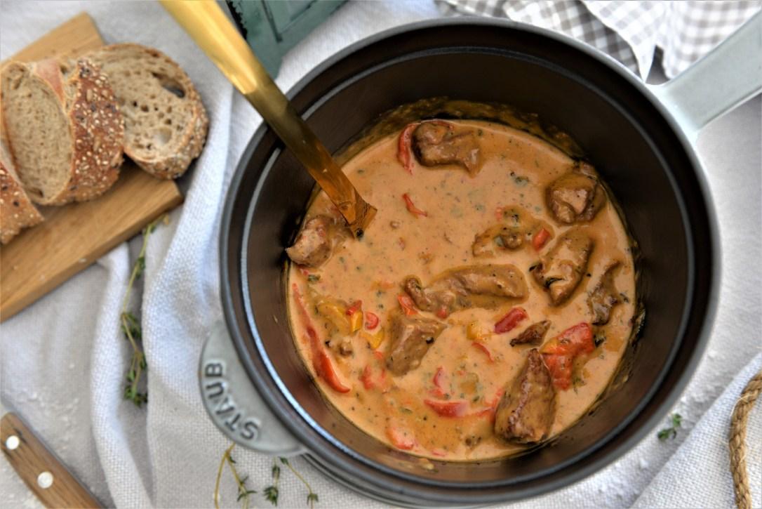 Ragout, Fleisch in Sauce, Kaserollerezept