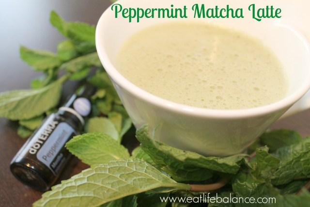 Peppermint Matcha Latte