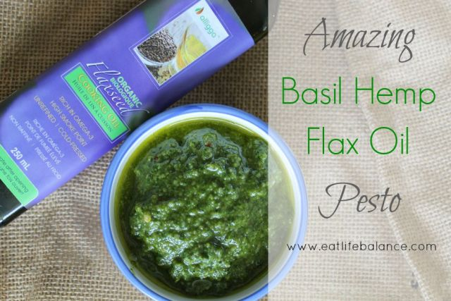 Basil Hemp Flax Oil Pesto