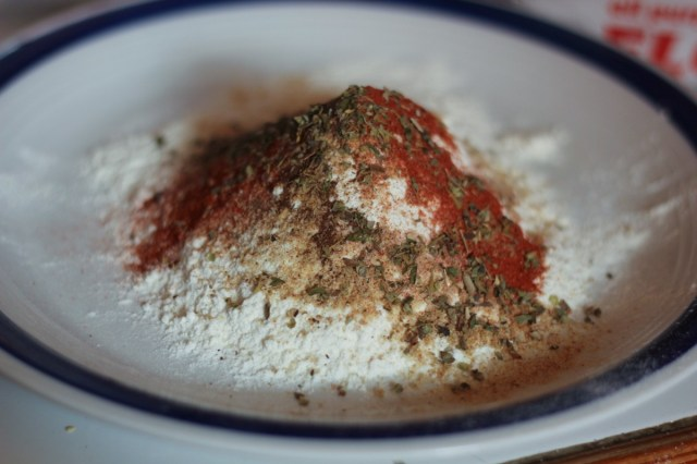 Seasoned flour to coat the fish