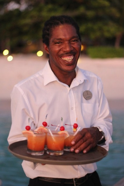 Rum punch on arrival