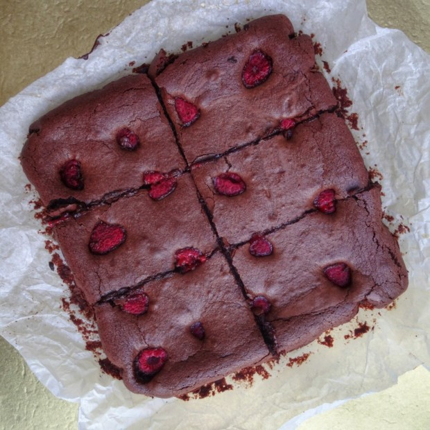 Boozy Raspberry Chocolate Brownies