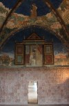 Full of amazing frescoes, this is just one seen from the golden bedroom (which was full of gold leaf until World War 2)