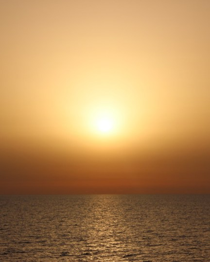 Sunset, from the ferry