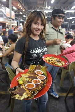 Sambal Stingray in Sabah - don't miss it! Such a good dish.