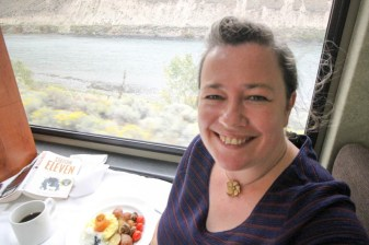 Happy place on the Rocky Mountaineer