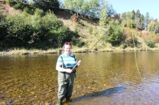 Fly fishing on the Margaree