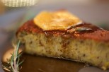 Orange Almond cake with rosemary syrup