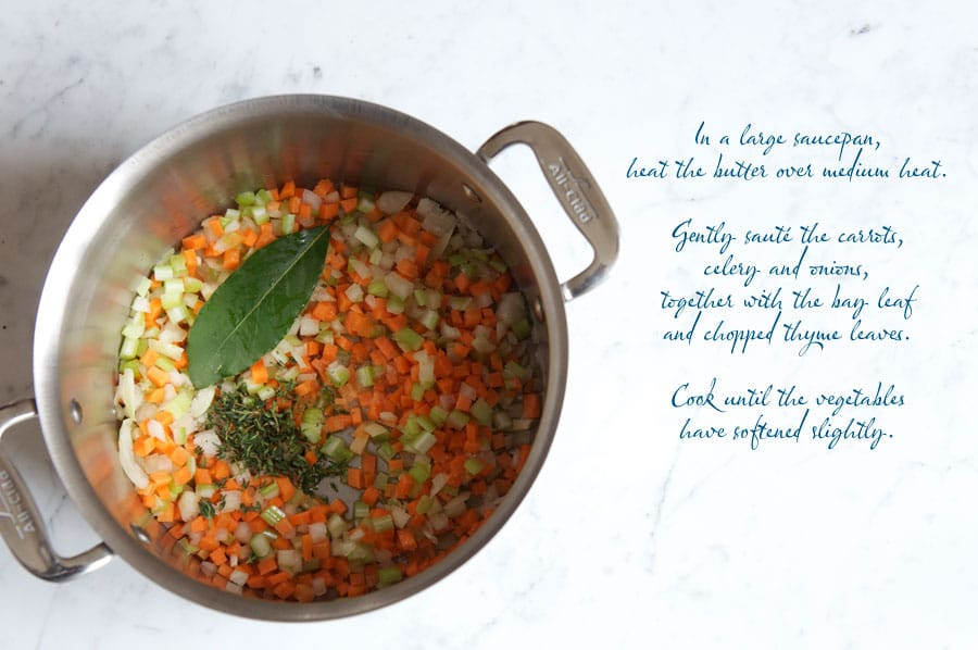 step by step photos for making vegetable barley soup