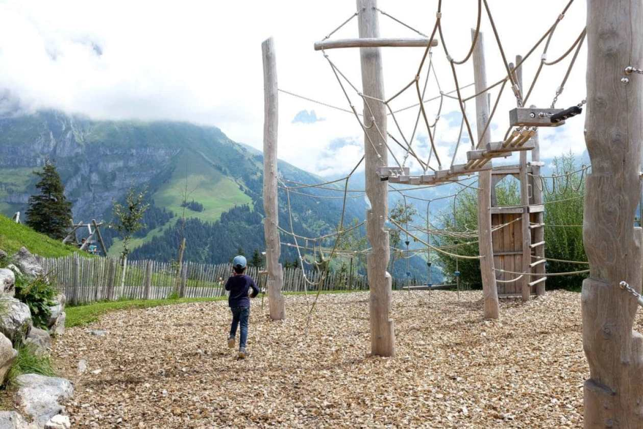 climbing playground at brunni engelberg switzerland