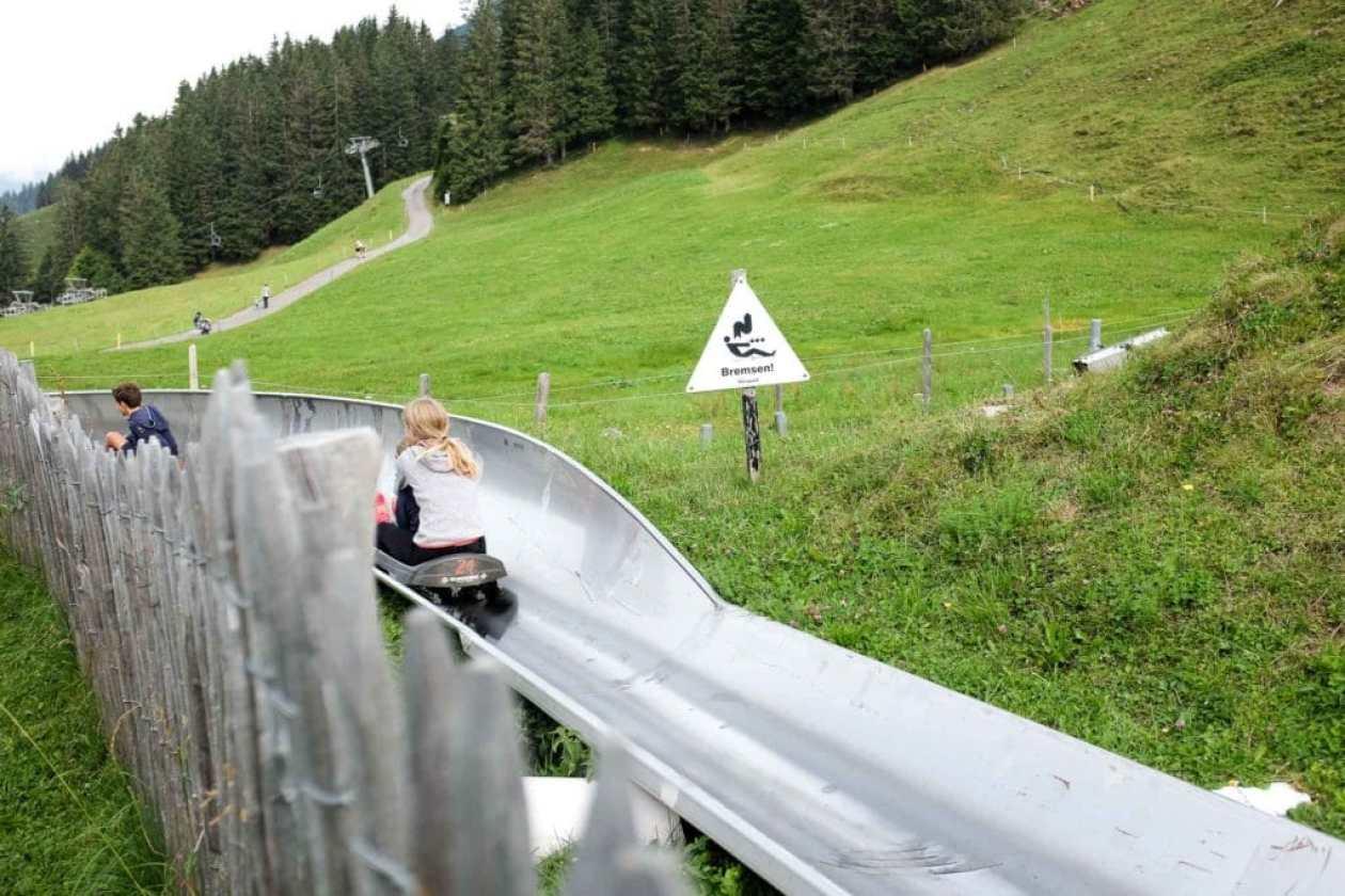 summer toboggan run at brunni engelberg