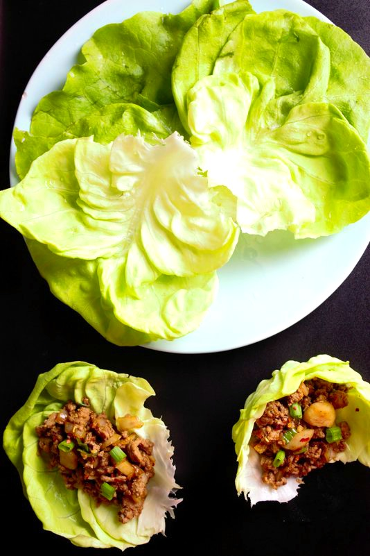 low carb easy chicken lettuce wraps