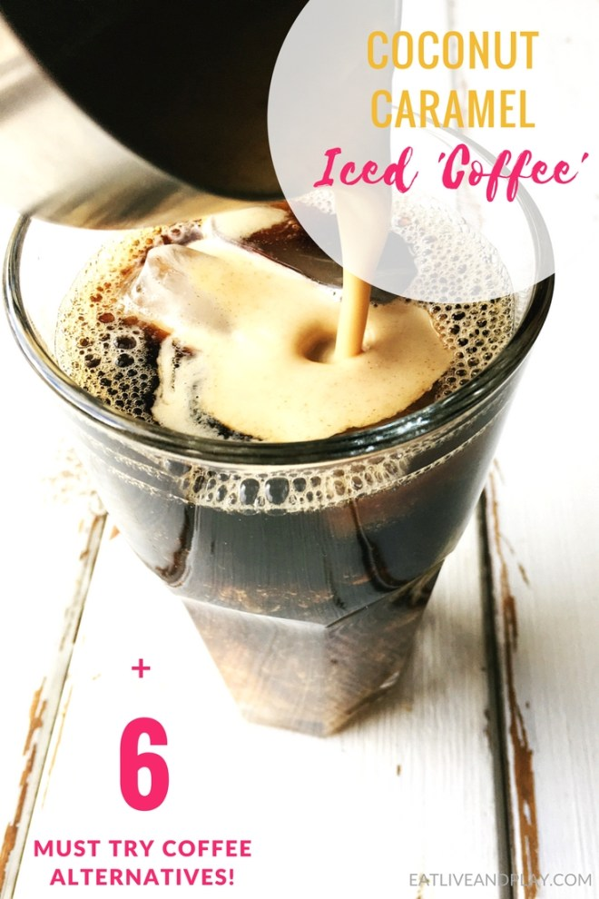 This easy Coconut Caramel Iced coffee is so rich and creamy you'd never know it was caffeine and dairy free!
