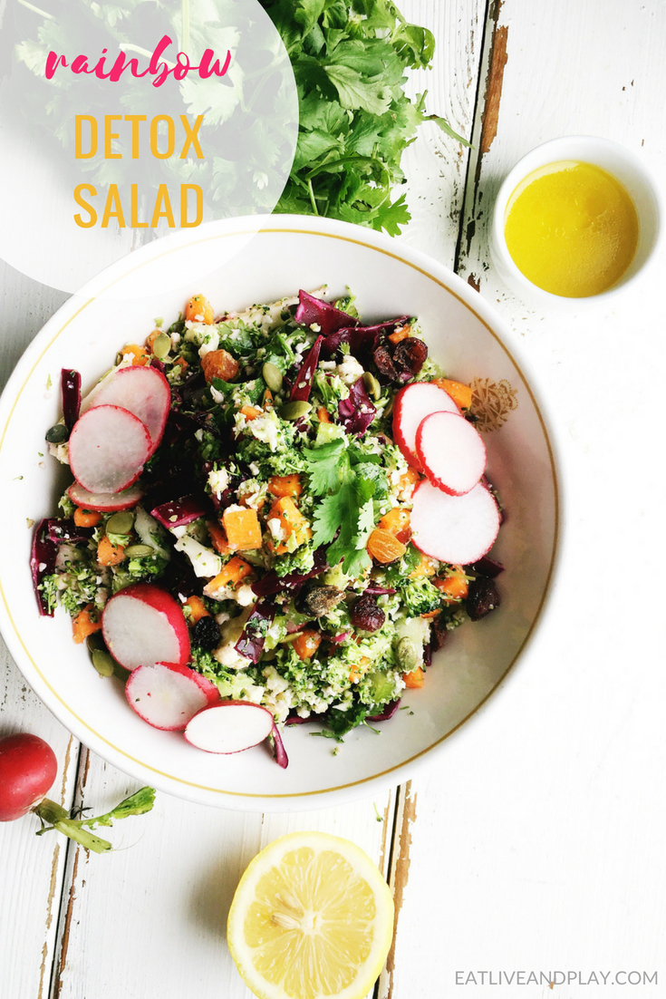 This easy delicious chopped detox salad is loaded with ingredients to remove accumulated toxins and excess weight and helps to support the body's detox pathways.