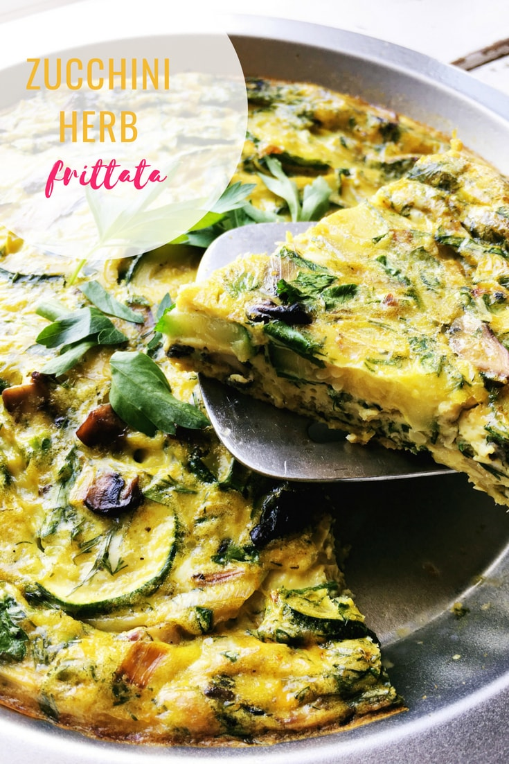 Frittatas are great for using up any leftover veggies and this zucchini herb frittata recipe comes together in about 30 minutes!