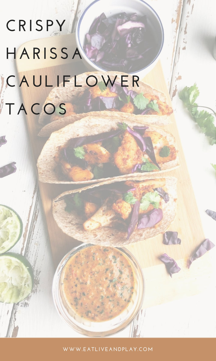 A simple and healthy cauliflower taco recipe with the spicy punch of Harissa! Taco night has never tasted this good.