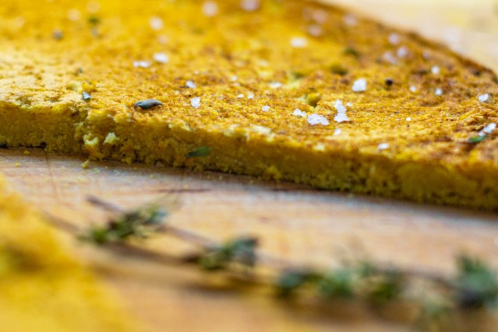 Curry Thyme Socca Bread