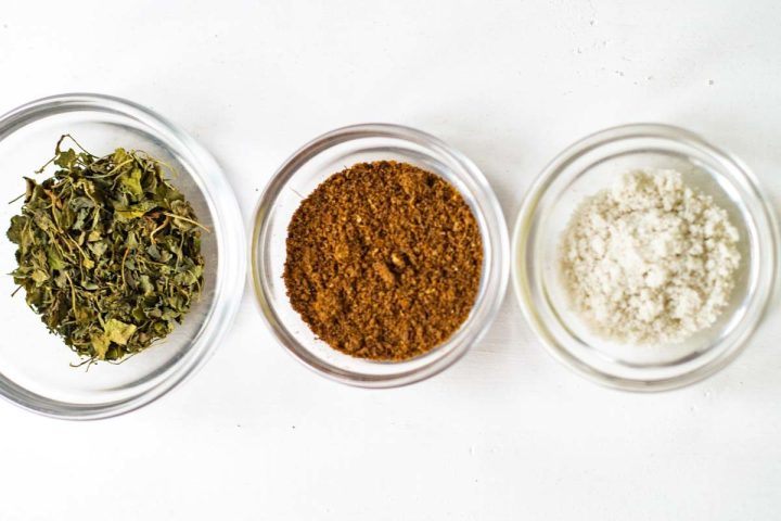 Indian Spices in small bowls