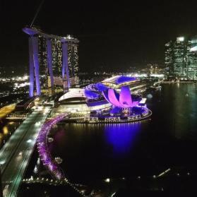 Marina Bay views from my hotel room at the Ritz Carlton