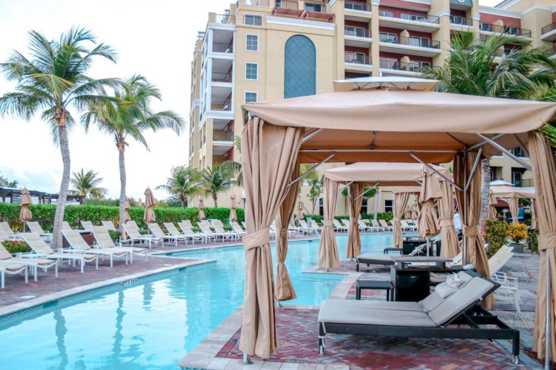 Where To Stay In Aruba: ritz carlton pool cabana