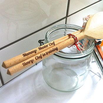 personalised wooden spoon set
