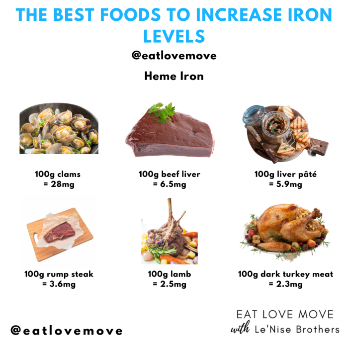 The Best Heme Iron Foods To Increase Iron Levels