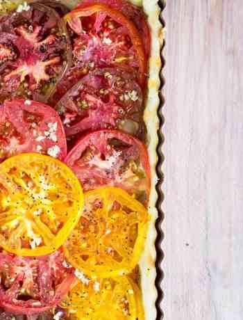 Colorful Tomato Tart
