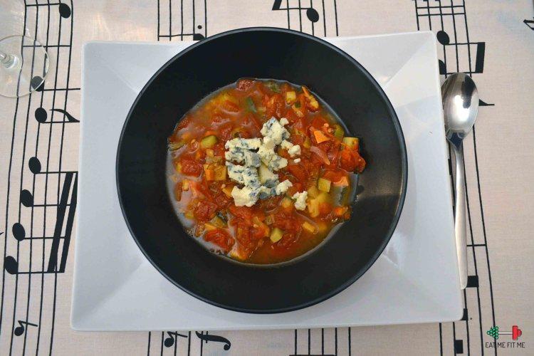Zupa z warzyw niczym Ratatouille z gorgonzolą