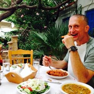 Steve Maxwell Diet - Wild goat, Okra & Lettuce Salad