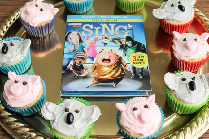 Pig Cupcakes and Koala Cupcakes Inspired by SING Movie  The Giveaway Tools widget I ve been using is not https security compliant   and my site is   so I can t use it anymore ON the site