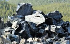 Newberry Caldera Obsidian Flow
