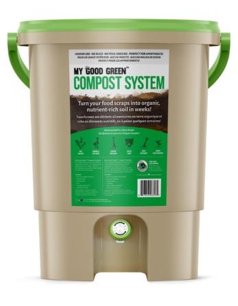 Bokashi system for composting on-site