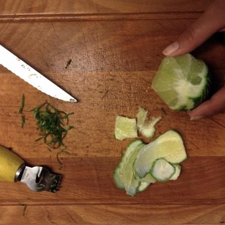Récupérer les zestes de citron vert