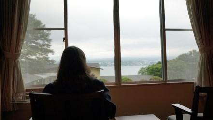 Vue de la chambre sur le mont Fuji