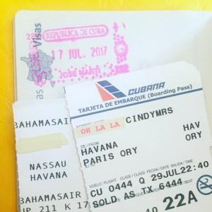 Billets d'avion pour Cuba