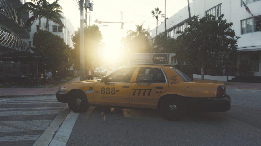 Taxi dans les rues de Miami