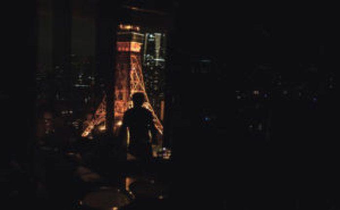 Vue sur la Tokyo Tower illuminée