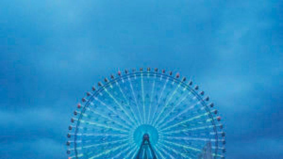 La grande roue sur le port d'Osaka