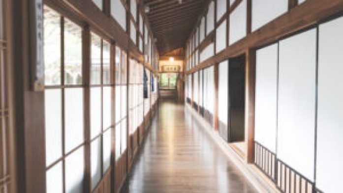 Les couloirs du temple Eko-In au Mont-Koya
