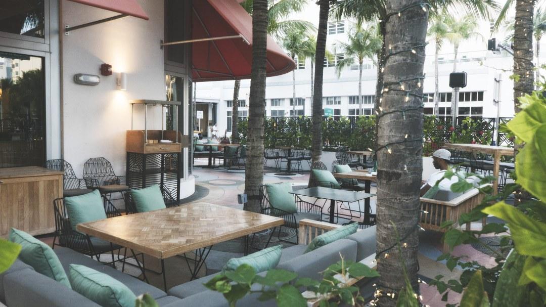La terrasse du restaurant Doa