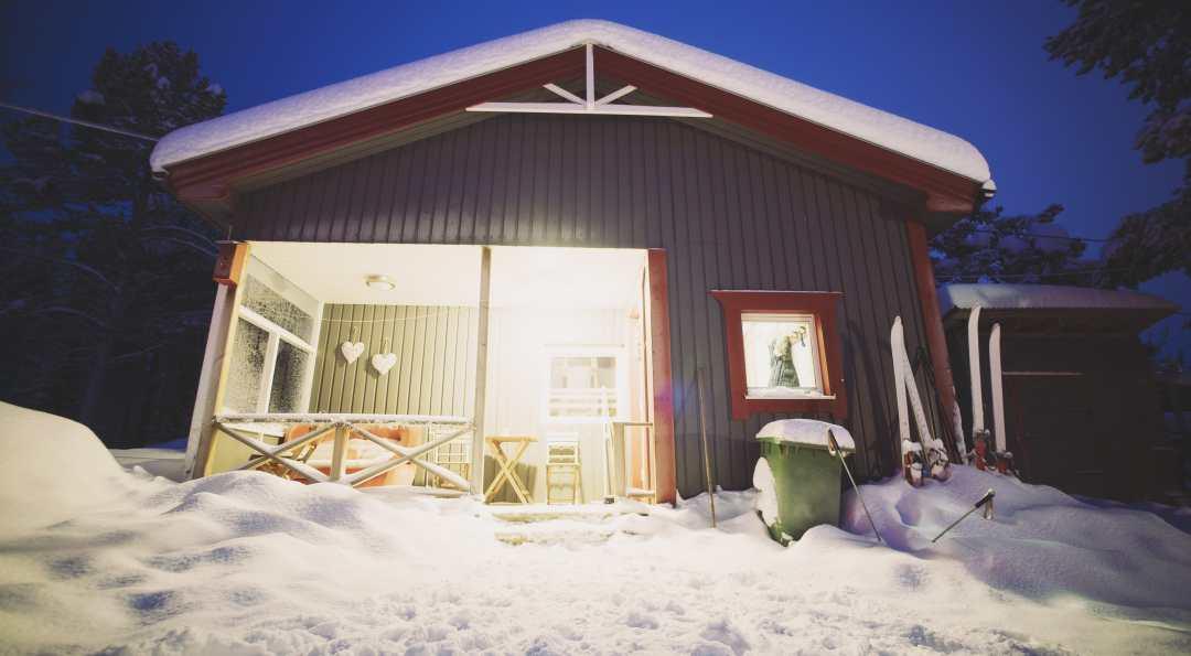 Notre chalet au Camp Adventure à Kiruna en Laponie Suèdoise