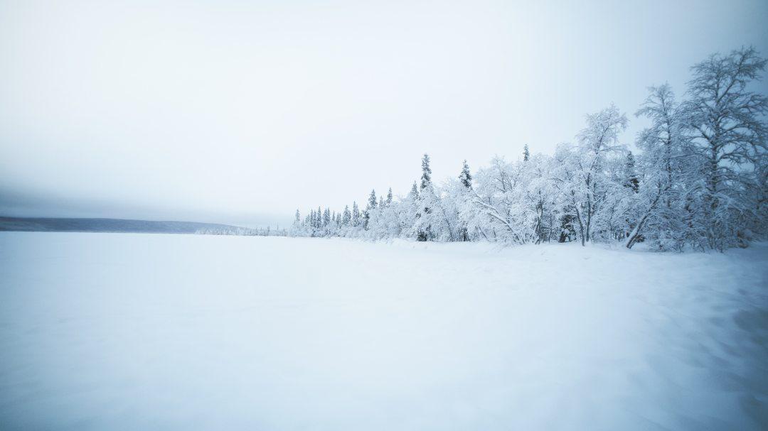 le lac Luossajärvi gelé