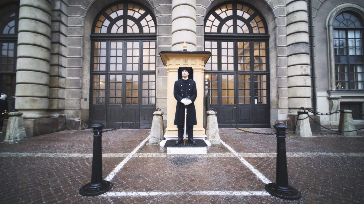 Un garde au palais royal