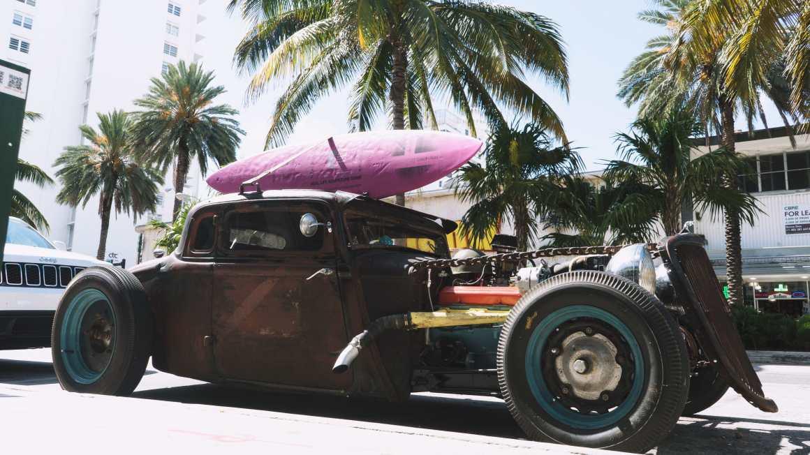 Une voiture à Miami Beach