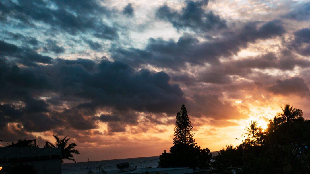 coucher de soleil à Nouméa