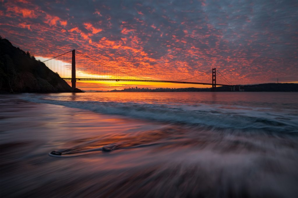 sunset sur san francisco
