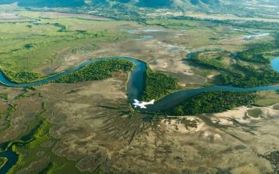 Vol en ULM au dessus de la barrière de corail et du coeur de Voh en Nouvelle-Calédonie