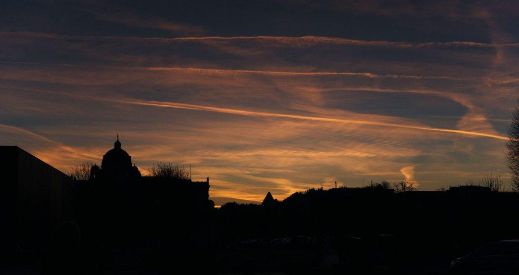 coucher de soleil sur Vienne