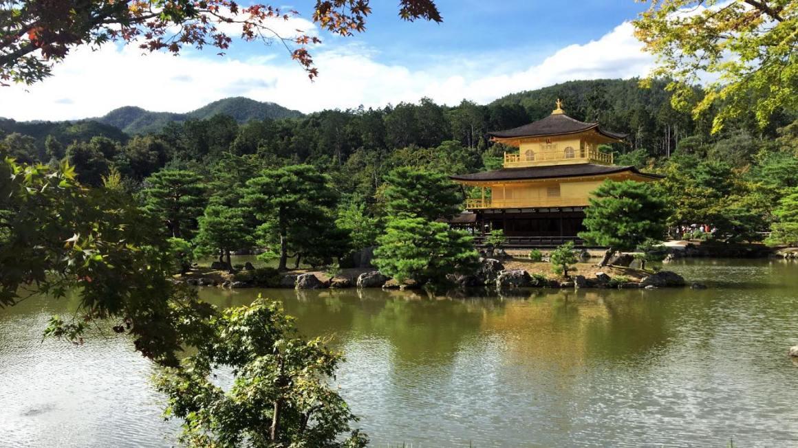la pavillon d'or à kyoto au japon
