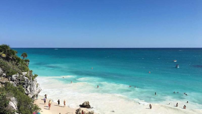 la plage de Tulum au Mexique